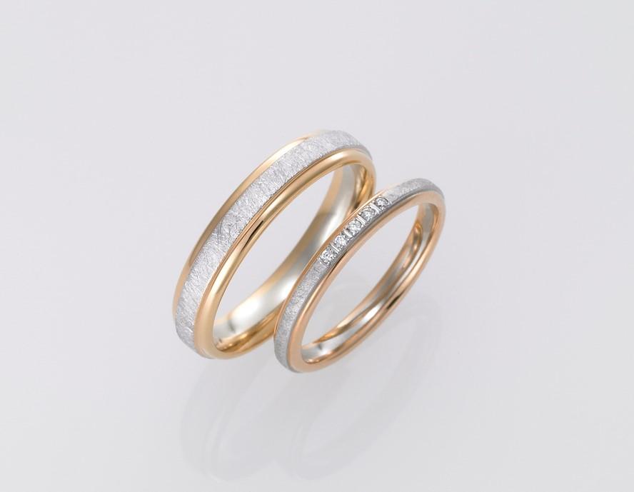 フィッシャーのアイスマット加工の結婚指輪