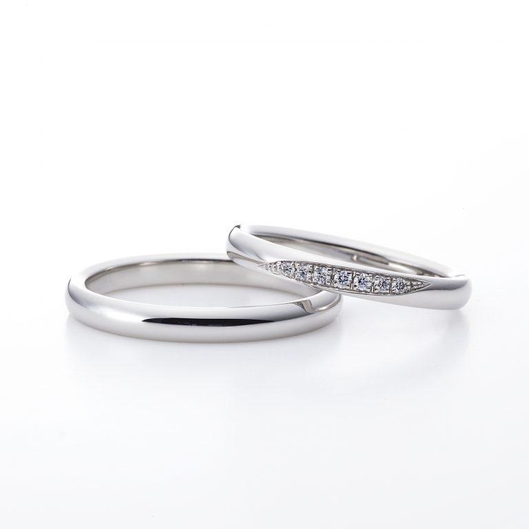 ラザールダイヤモンドの結婚指輪 7石