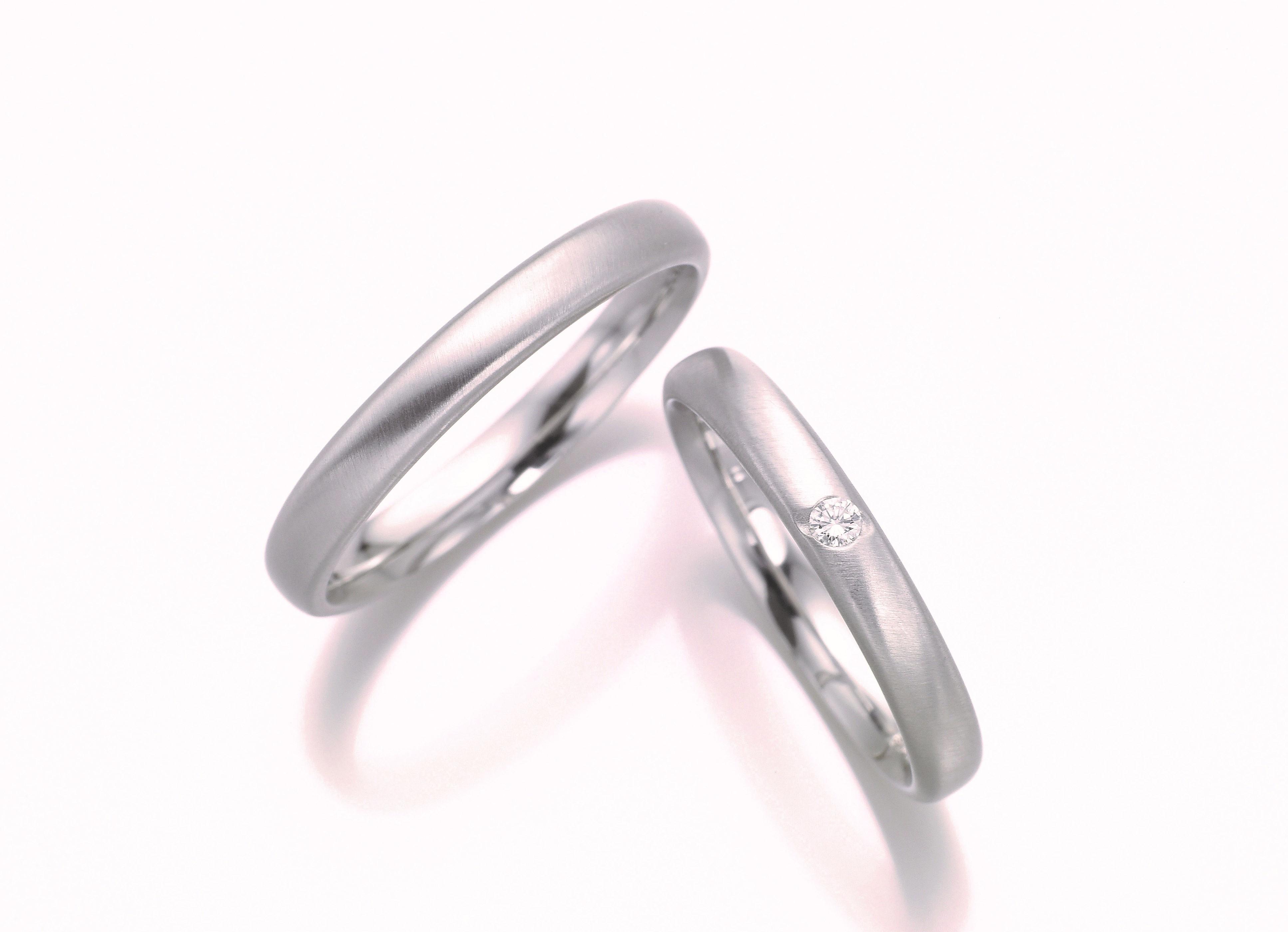 フィッシャーの斜めマットの結婚指輪