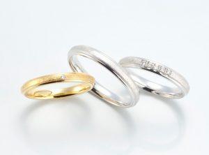つや消し(アイスマット)加工の結婚指輪
