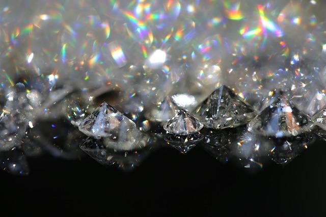 ダイヤモンドの虹色・七色の輝き ディスパージョン