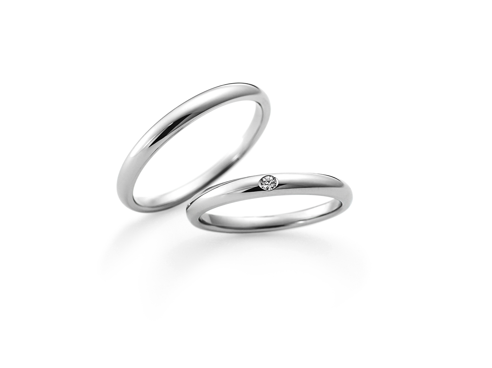 ラザールダイヤモンドの結婚指輪 1石