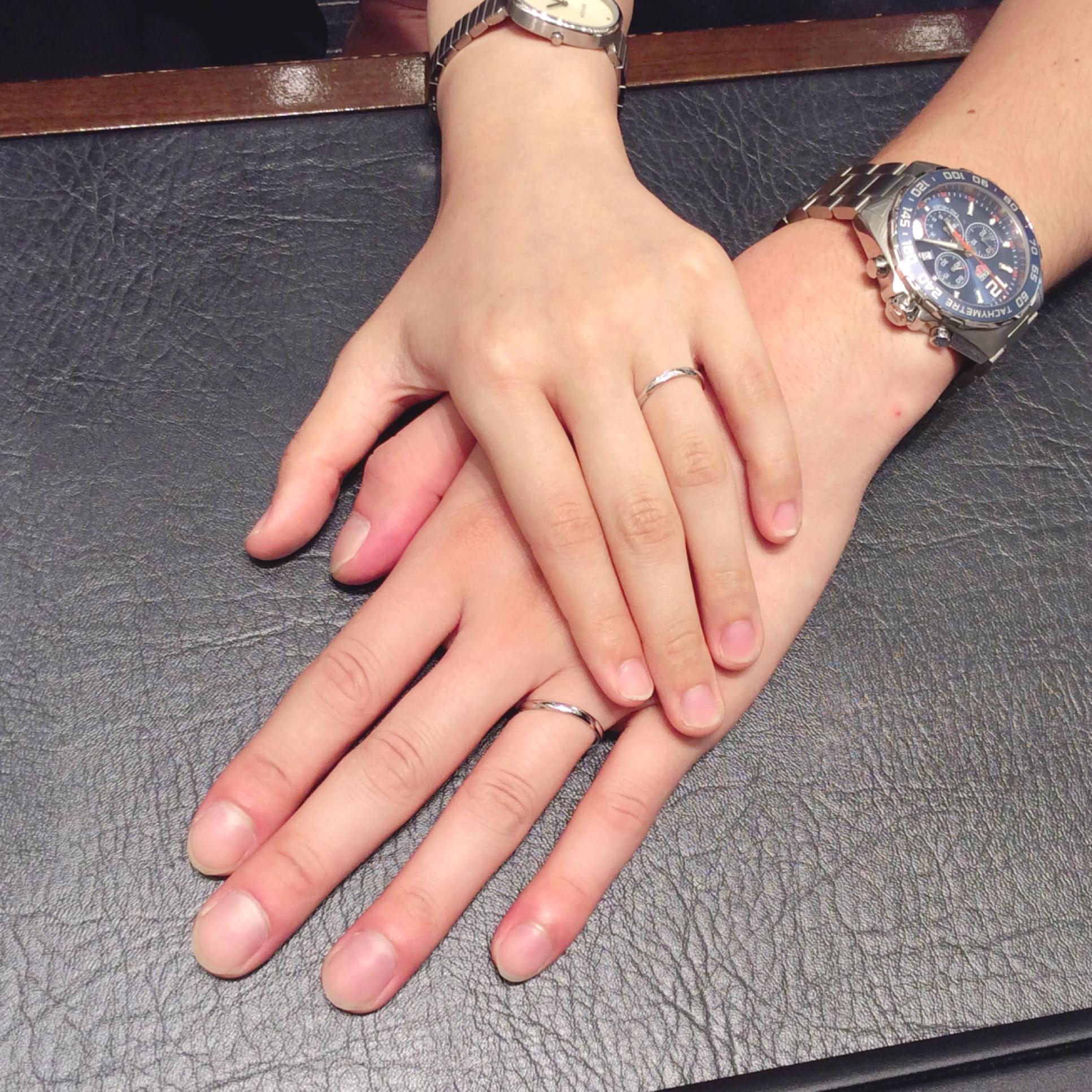 NIWAKA結婚指輪「雪佳景(せっかけい)」をご成約(燕市・新潟市/K様・K様)