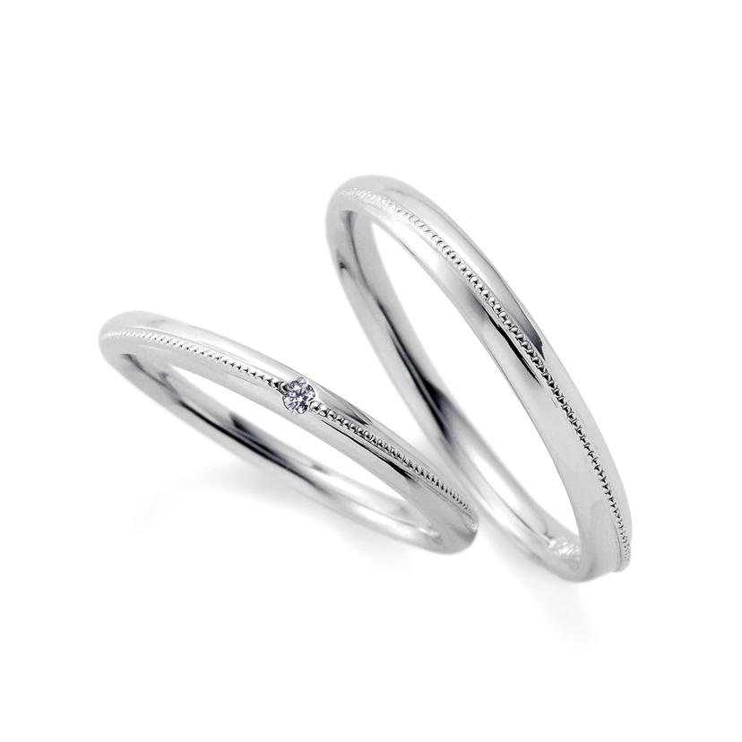 CAFERINGの1石の結婚指輪