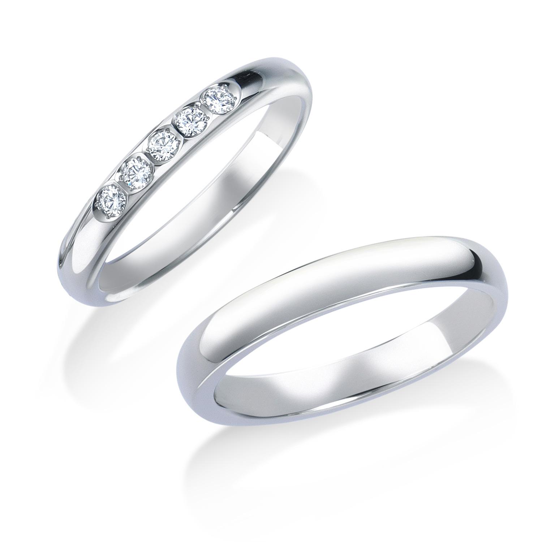 ロイヤル・アッシャーの5石の結婚指輪