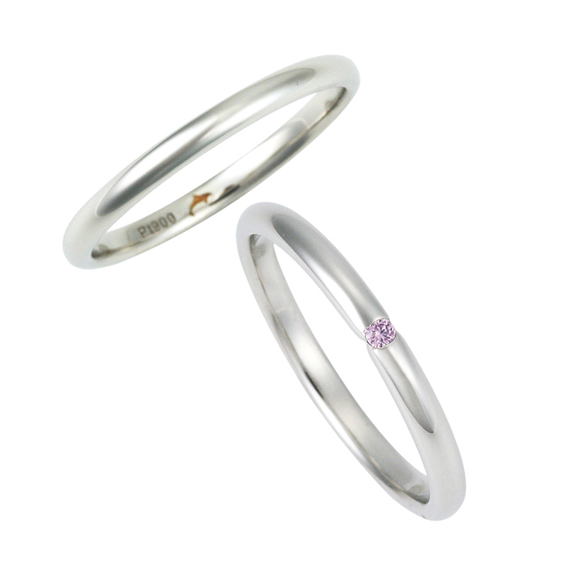 ピンクダイヤモンドの結婚指輪