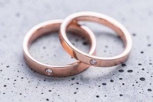 ピンクゴールドの結婚指輪