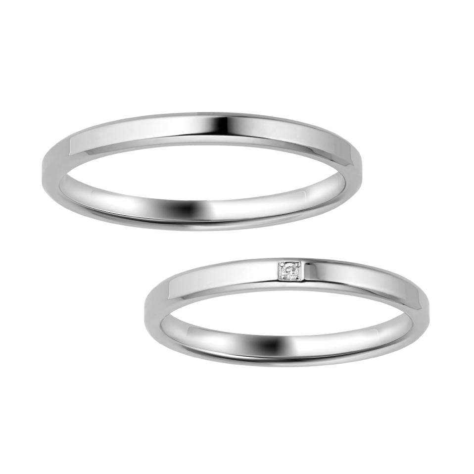 ポンテヴェキオのシンプルな結婚指輪