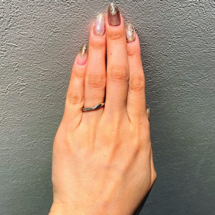 ちょうどよい幅の結婚指輪