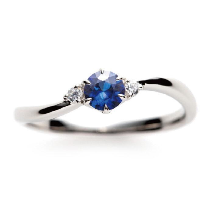 Soのブルーサファイアの婚約指輪