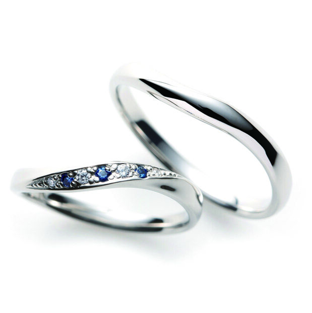 Soのブルーサファイアの結婚指輪