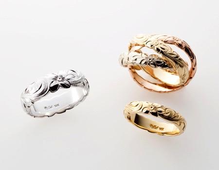 ハワイアンジュエリーMaxiの結婚指輪