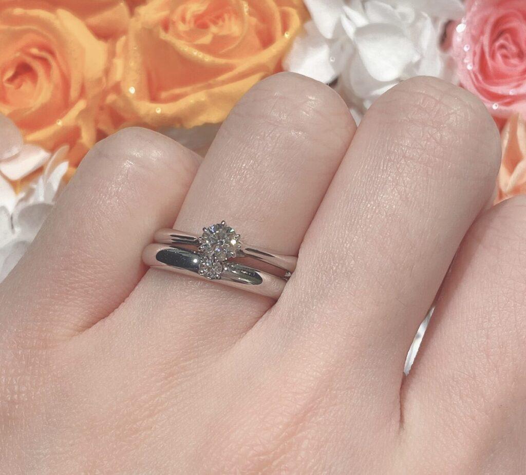 結婚指輪 重ねづけ ストレート