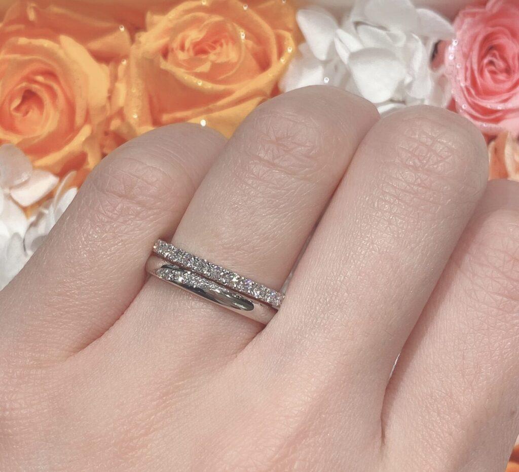 結婚指輪 重ねづけ エタニティリング