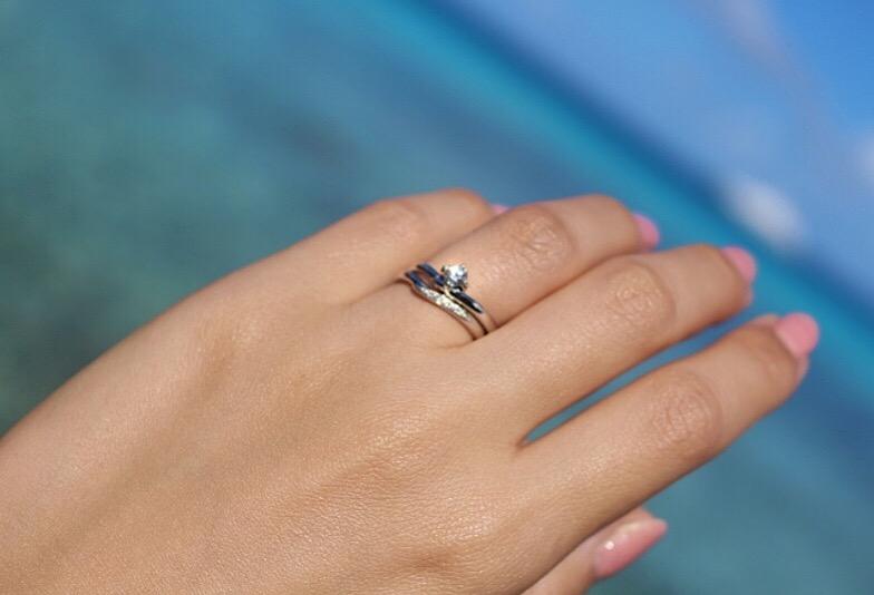 婚約指輪 結婚指輪 重ねづけ