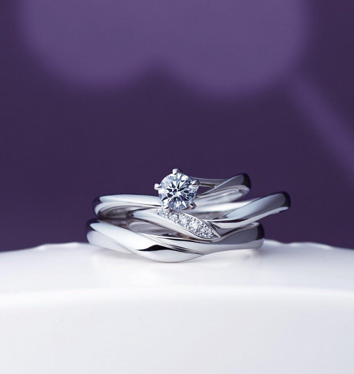 にわかの結婚指輪初桜(ういざくら)の画像