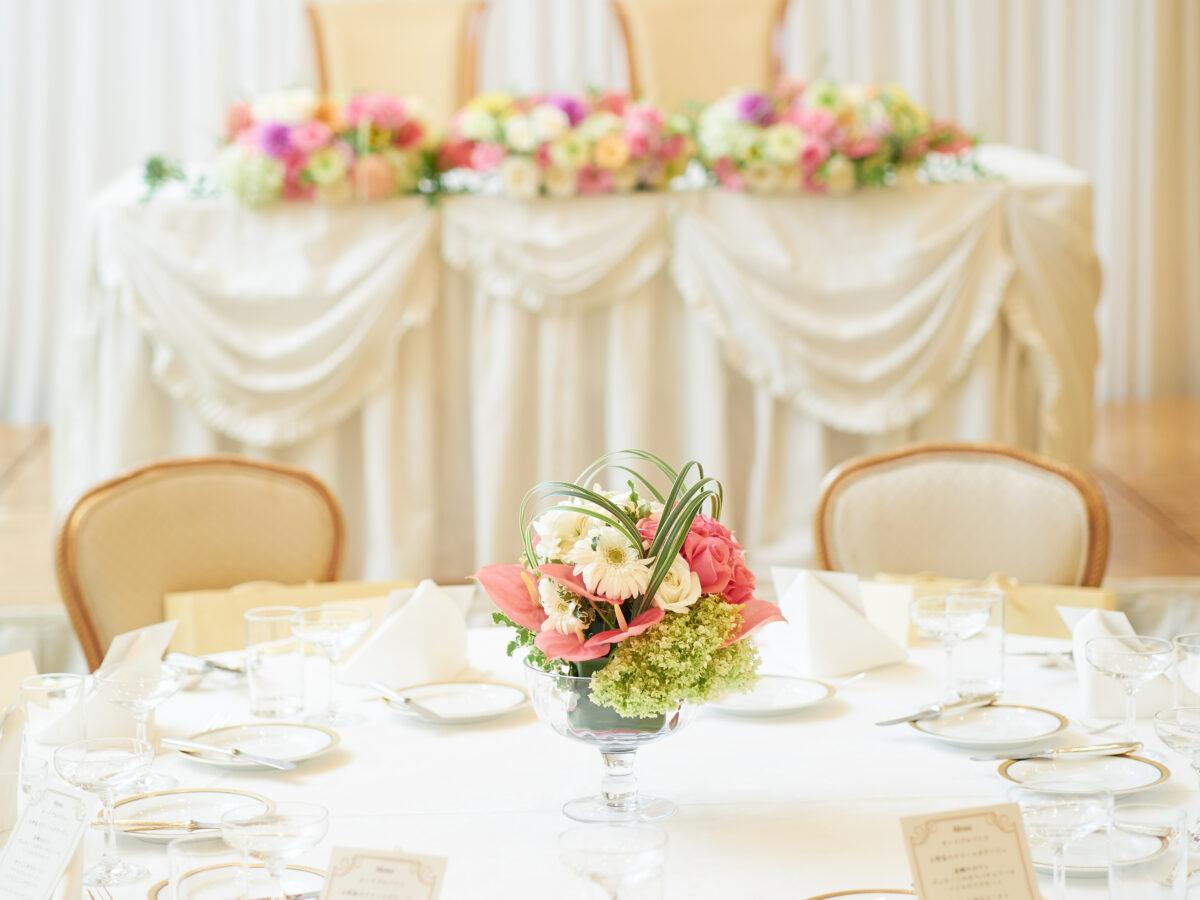結婚式披露宴会場