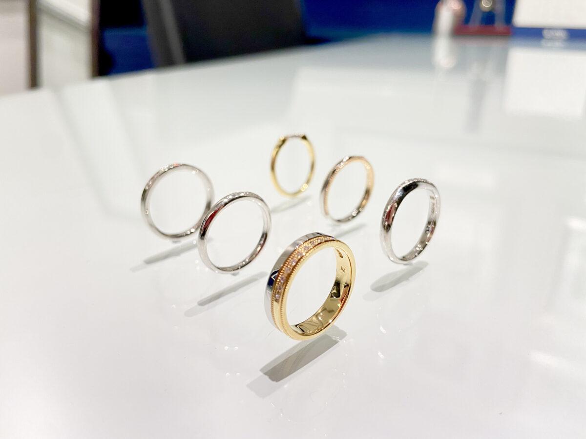 テイストの異なる結婚指輪