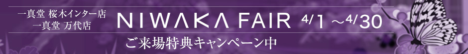 一真堂 桜木インター店・万代店 NIWAKA FAIR