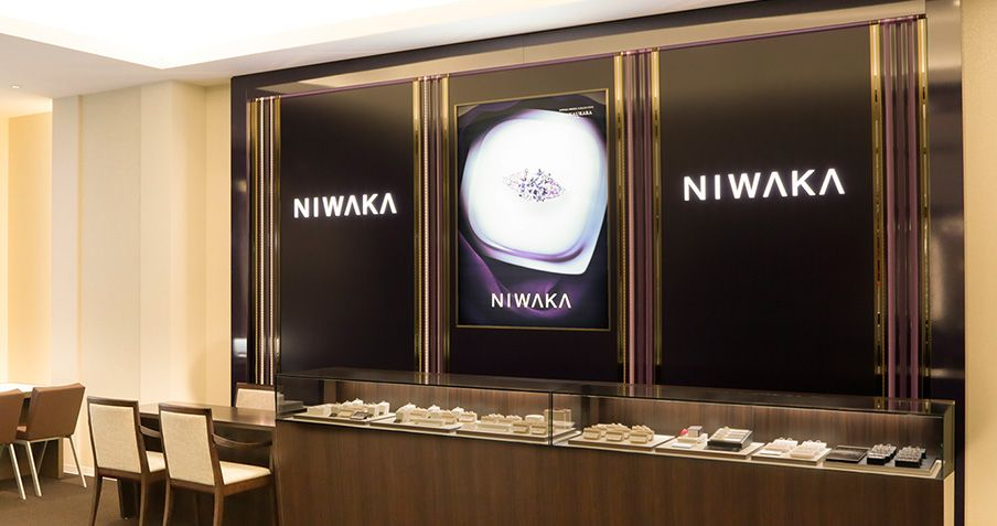 新潟の結婚指輪・婚約指輪専門店一真堂桜木インター店のNIWAKAブース