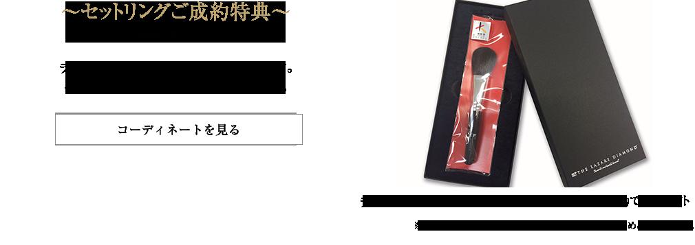 セットご成約特典「熊野筆ブラシ」