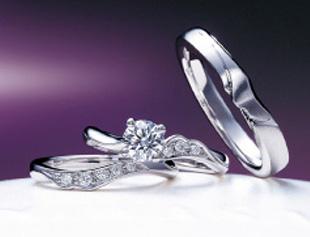 俄 NIWAKA「唐花」婚約指輪と結婚指輪