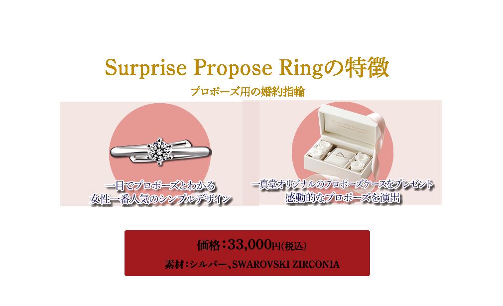 Surprise Propose Ringの特徴