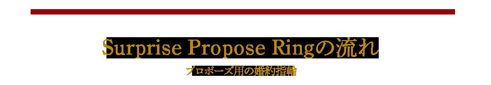Surprise Propose Ringの流れ