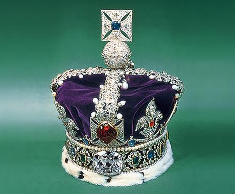 ダイヤモンドが輝く王冠