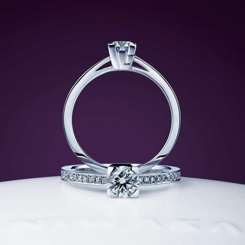 心(サイドメレ)(こころ)|エンゲージ|俄の婚約指輪