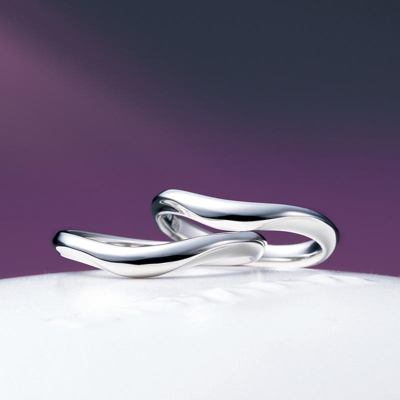月の雫(つきのしずく)|マリッジ|俄の結婚指輪
