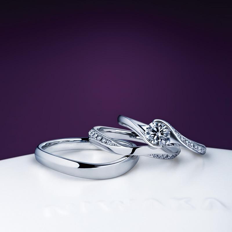 暁星・茜雲(あかぼし・あかねぐも)|俄の婚約・結婚指輪