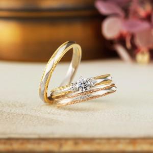 結婚指輪と婚約指輪 アンティック