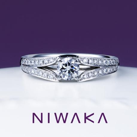 瑞穂波(みずほなみ)サイドメレ|俄 婚約指輪