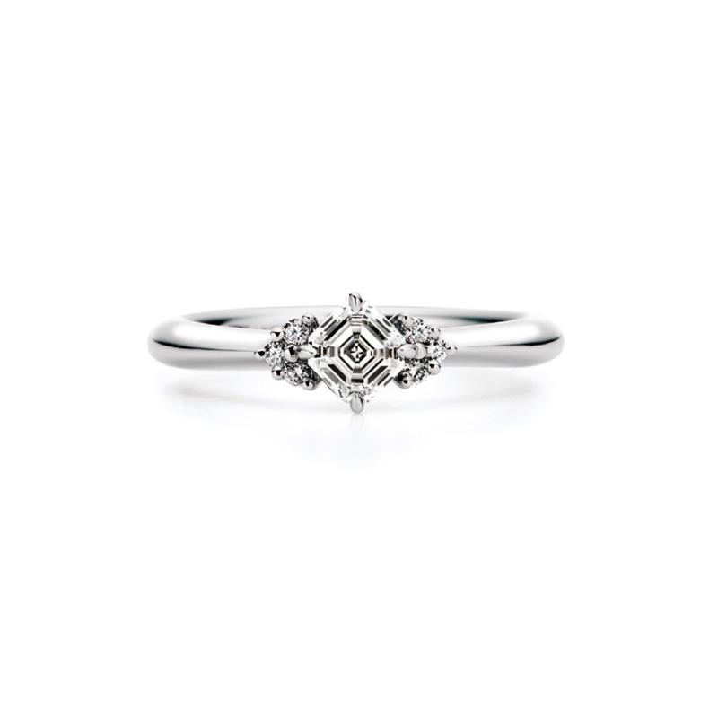 AC013|ロイヤルアッシャー 婚約指輪