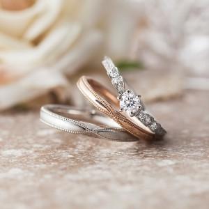 婚約指輪と結婚指輪 プリマポルタ アンティーク調