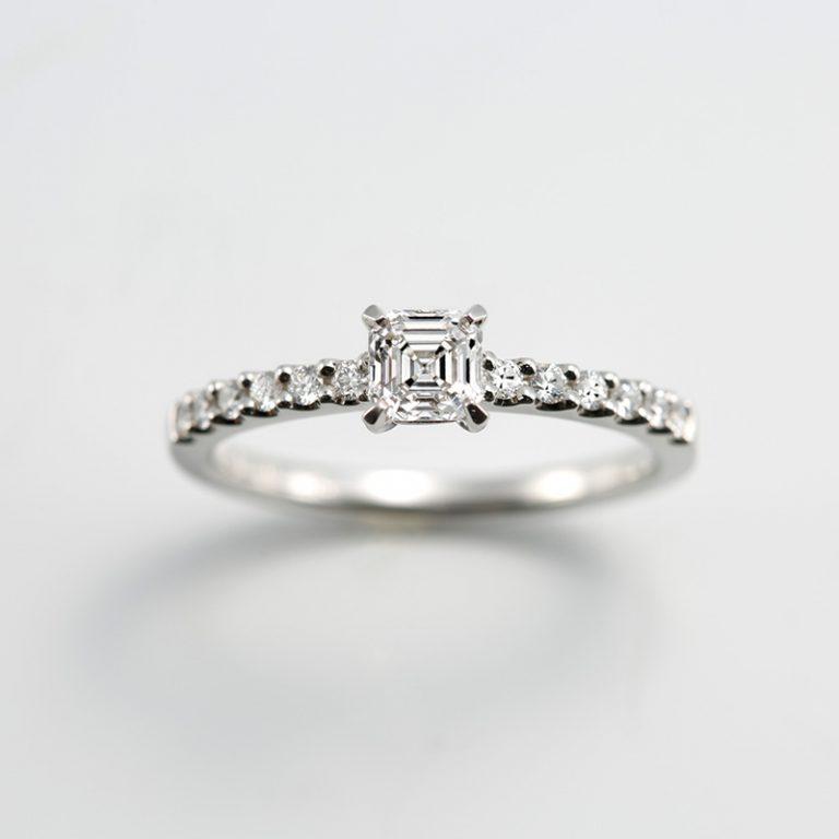 AC020|ロイヤルアッシャー 婚約指輪