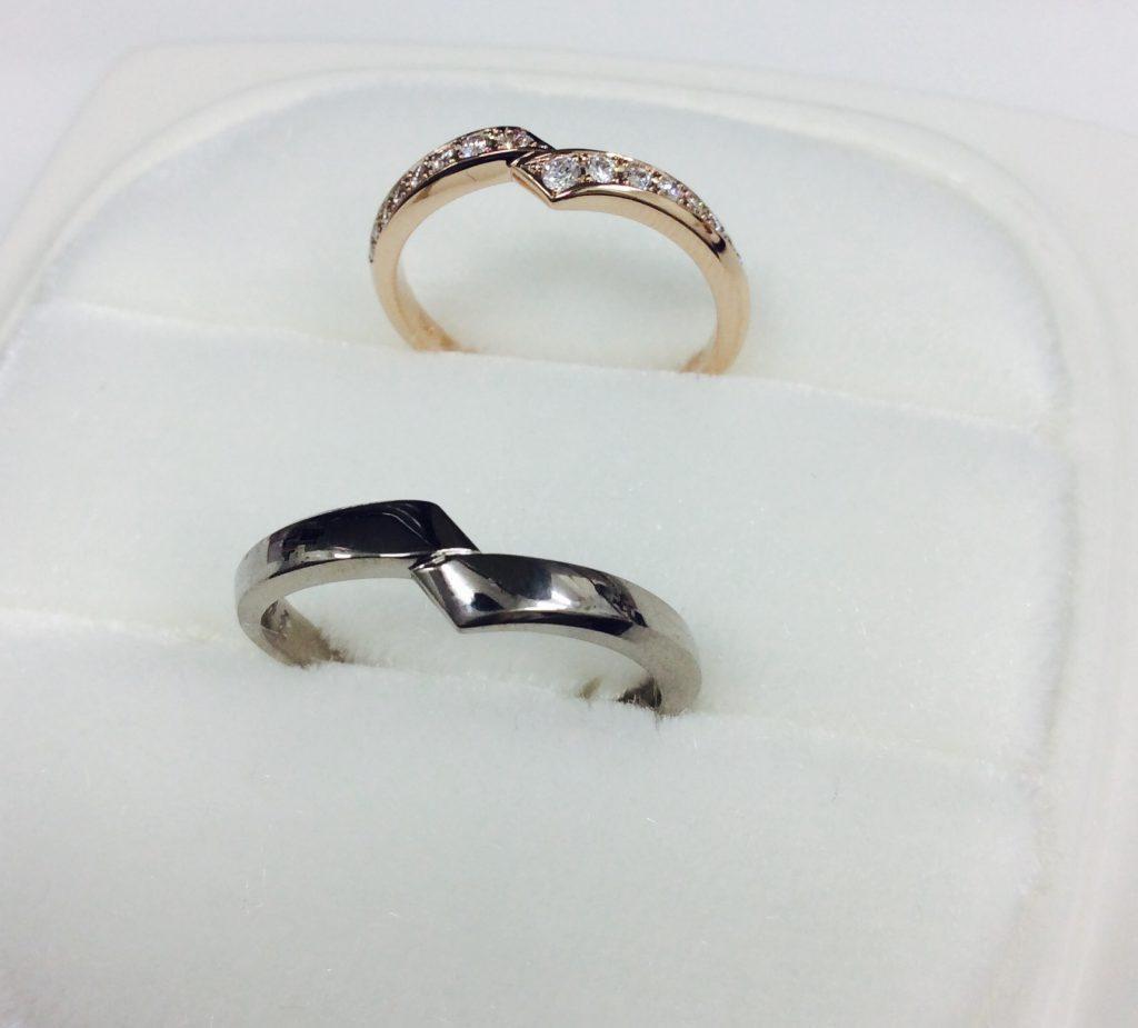 俄結婚指輪「綾」PtG,PG