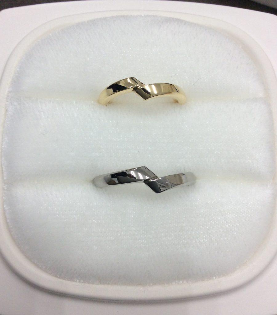 俄結婚指輪「綾」YG