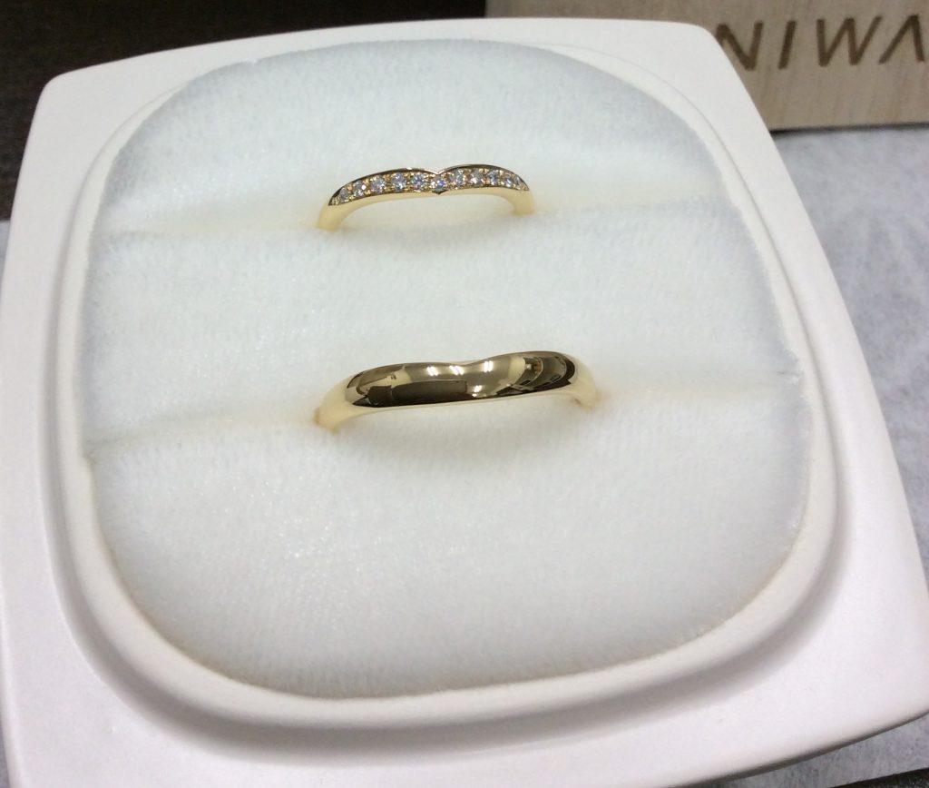 俄結婚指輪「睡蓮」YG