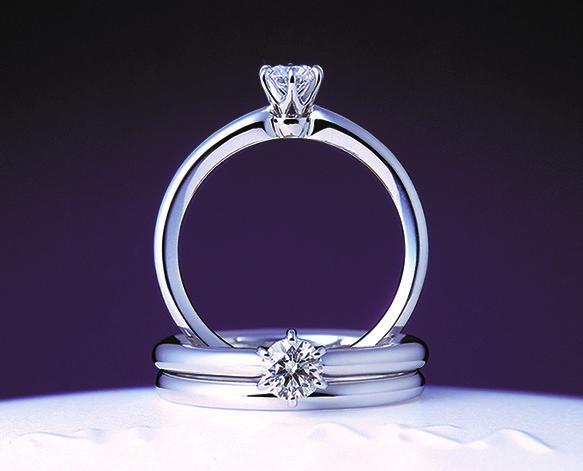 ことほぎ アーム透かし無し|俄の婚約指輪