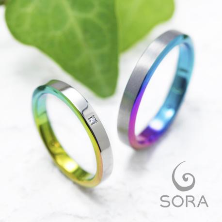 スロープ| SORA ( ソラ) 結婚指輪