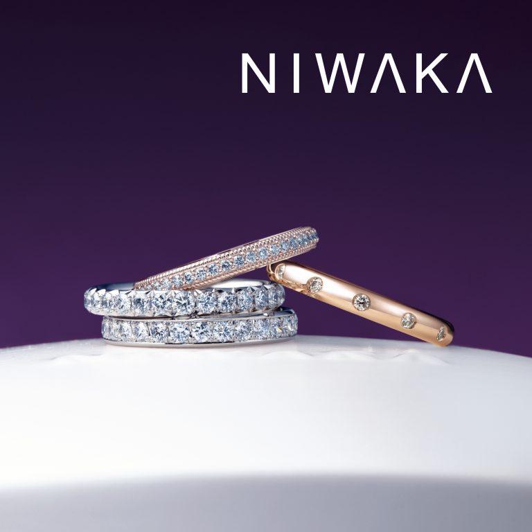 ことほぎ(メレあり)|俄 結婚指輪