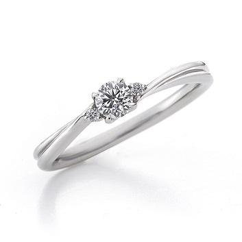 エーデルワイス FL007PRD|ラザールダイヤモンド 婚約指輪