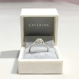 【CAFERING】プロポーズサポートプラン ブーケとリングBOXプレゼント
