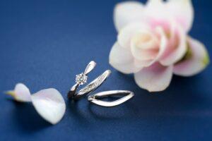 ロイヤル・アッシャー婚約指輪と結婚指輪