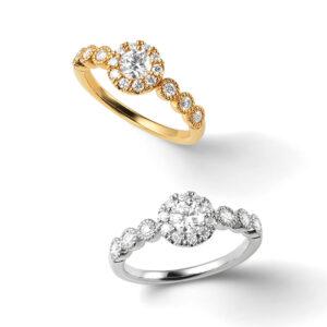 華やかな婚約指輪 ポンテヴェキオ